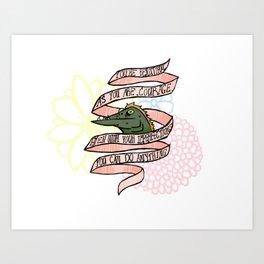 Courage the Cowardly Dog Bathtub Barracuda Art Print