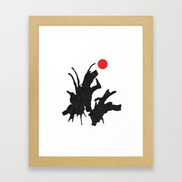 cats with ball Framed Art Print