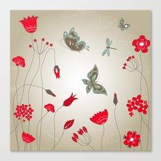 Tatemae Japanese Ochre Canvas Print
