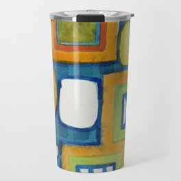 Cluster of Wall Objects Travel Mug