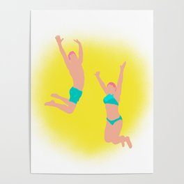 Jump! - Bright Colors Poster