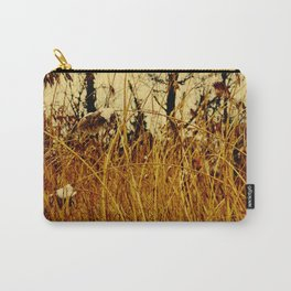 Snow covered pond reeds Carry-All Pouch