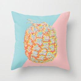 Brit Milah PINEAPPLE - red-blue Throw Pillow