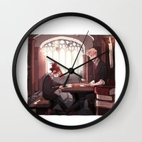 library Wall Clocks featuring Library by Galaxyspeaking