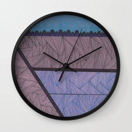 Blues and Black Wall Clock