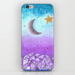 Mister moon iPhone Skin