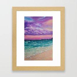 Sombre purple sky Framed Art Print