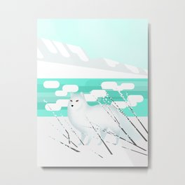 Arctic Fox - Cold but beautiful Metal Print