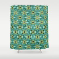 botanical Shower Curtains featuring Botanical by Alisse Courter