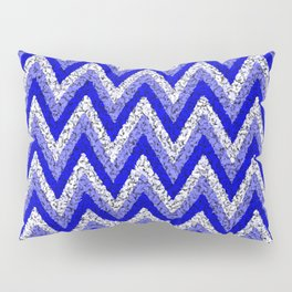 Blue Zigzag Pillow Sham