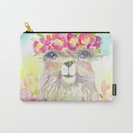 Llama in flower crown Carry-All Pouch