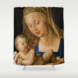 Virgin with the Pear by Albrecht Durer Shower Curtain