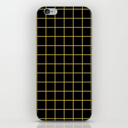 Grid Pattern - yellow and black - more colors iPhone Skin