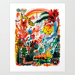 the monster forest Art Print