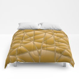 'Quilted' Geometric in Gold Yellow Comforters