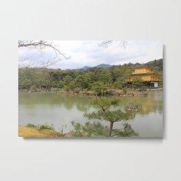 Kinkaku-Ji - The Golden Pavillion Metal Print