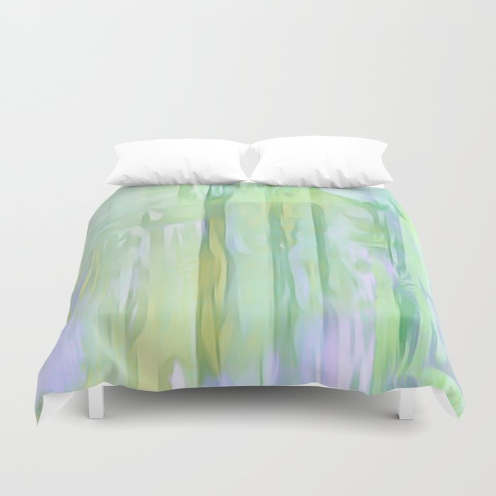 Cool Waves Of Color Abstract Duvet Cover