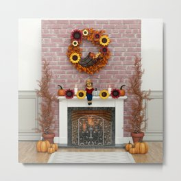 Harvest Hearth Metal Print