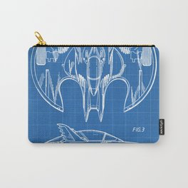 Batwing Patent - Bat Wing Art - Blueprint Carry-All Pouch