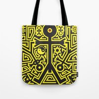 religion Tote Bags featuring Religion Icon by Thisisnotme