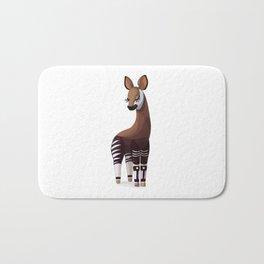 Lovely okapi. Vector graphic character Bath Mat
