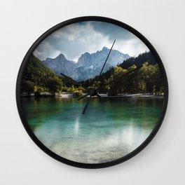 Lake Jasna in Kranjska Gora, Slovenia Wall Clock