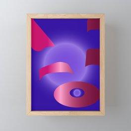 Purple Backpack Framed Mini Art Print