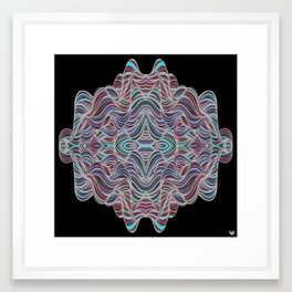 Abstract Waves of Thoughts Framed Art Print