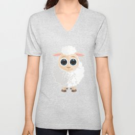 White Sheep Unisex V-Neck