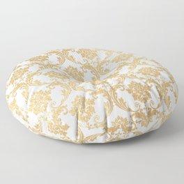Gold swirls damask #4 Floor Pillow