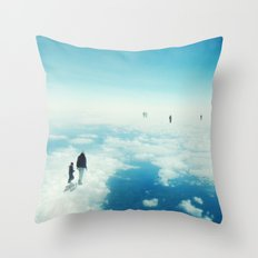Heaven's already here above the clouds Throw Pillow