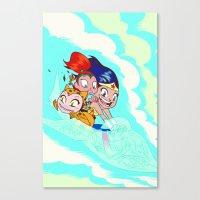 teen titans Canvas Prints featuring Teen Titans Go Comic Book Mini Character Print by NOTCHCOMICS