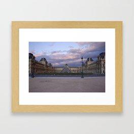 Louvre at Dusk Framed Art Print