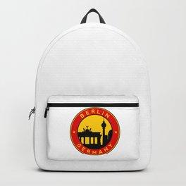 Berlin, circle, sticker Backpack