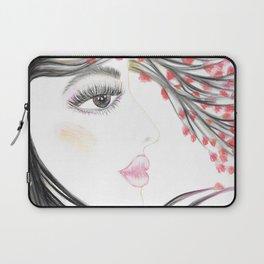 Sakura Face Laptop Sleeve