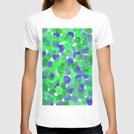Watercolour Circles- Green and Blue Palette T-shirt