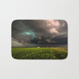 May Thunderstorm - Twisting Storm Over House in Colorado Bath Mat