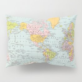 World Map Pillow Sham