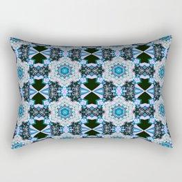 Cerulean Grid Rectangular Pillow