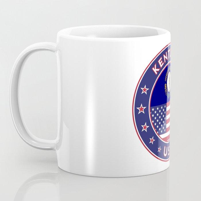 Kentucky, Kentucky t-shirt, Kentucky sticker, circle, Kentucky flag, white bg Coffee Mug