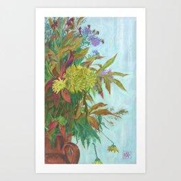 Autumn bouquet, floral art Art Print