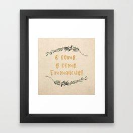 O Come, O Come, Emmanuel Framed Art Print