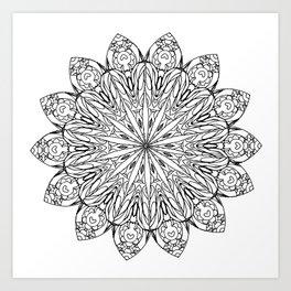 Mandala of Love and Challenges Art Print