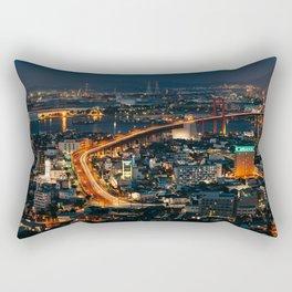 Takatoyama Night View Rectangular Pillow