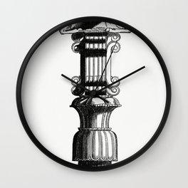 Persian Column (1862) from Gazette Des Beaux-Arts a French art review Wall Clock