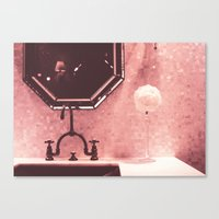 bathroom Canvas Prints featuring Bathroom  by Elsa Harley