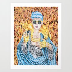 J.B. and the Golden Pussy Art Print