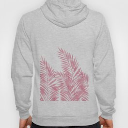 Palm Leaves Pink Hoody