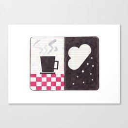 Coffee & Snow Canvas Print