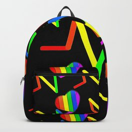 #Lovewins! Rainbow Pulse - Cool Gay Art. Backpack